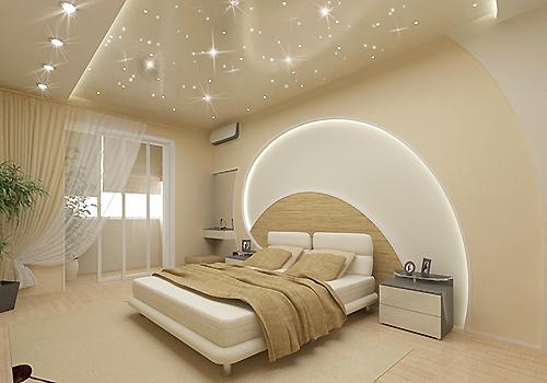 Дизайн потолков в спальне – стиль комфорта и гармонии