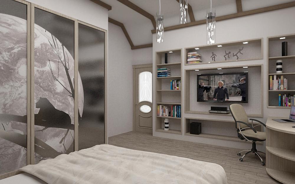 Фотопечать для украшения шкафа в дизайне спальни