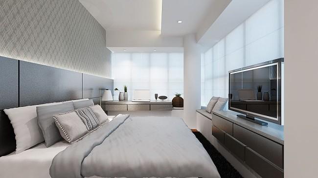 Гипсокартон - оптимальный и стильный материал для потолка современной спальни