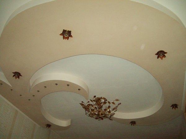 Простая конструкция потолка