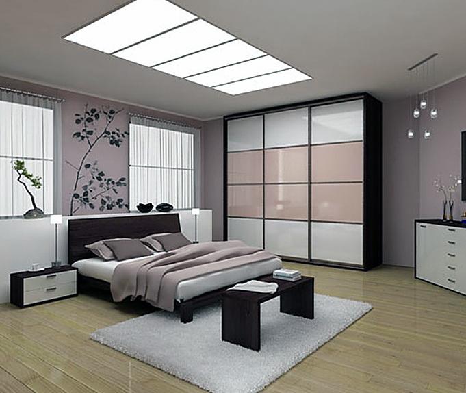 Дизайн современной корпусная мебель для спальни
