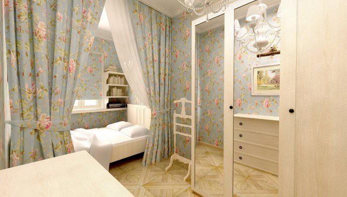 Красивое оформление прованской спальни