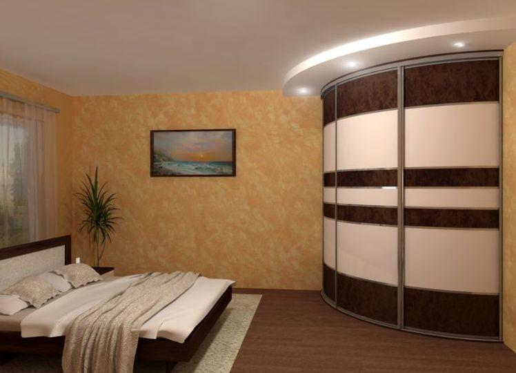 Дизайн миниатюрного углового шкафа в спальне
