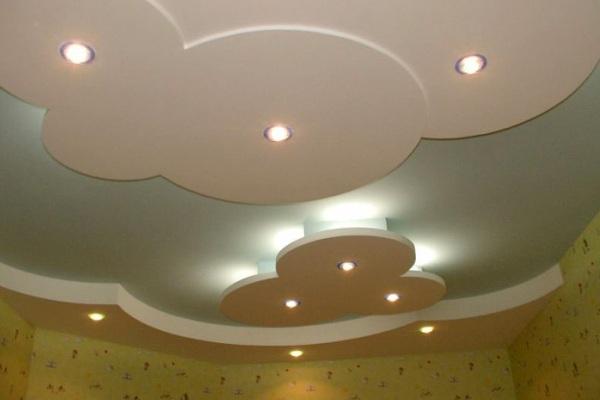 Несложное оформление потолка
