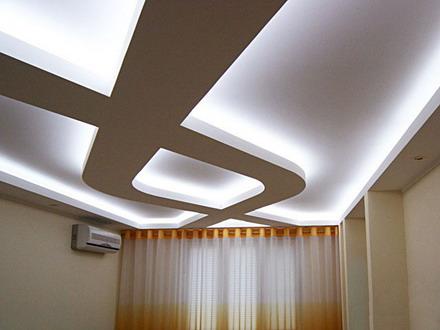 Применение подсветки для потолка