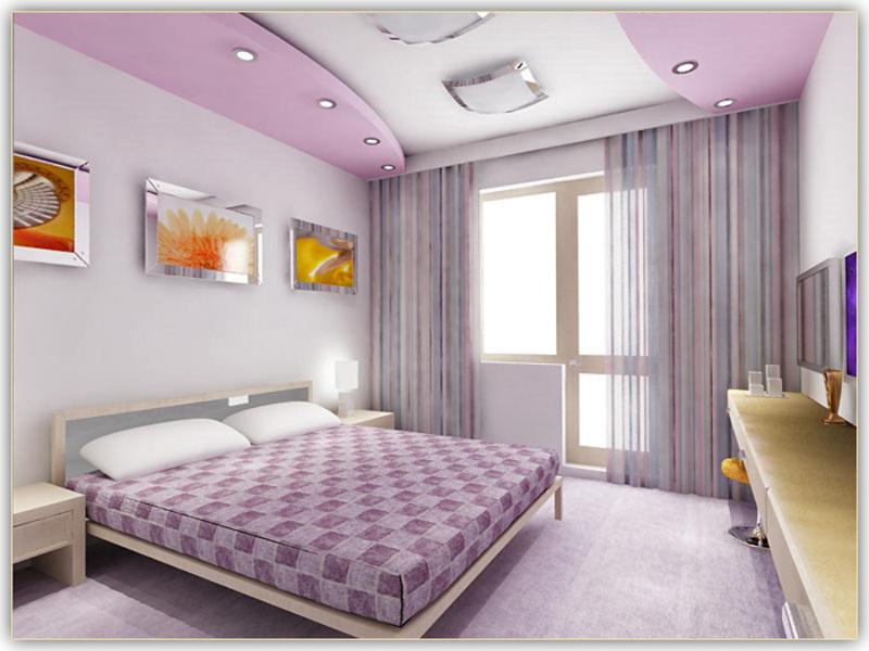 В данном помещении роскошный потолок из гипсокартона