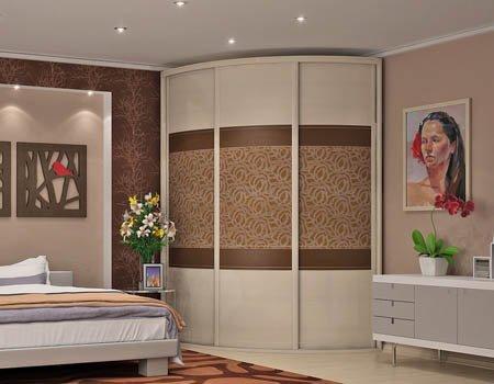 Неповторимый интерьер радиусной мебели для спальни