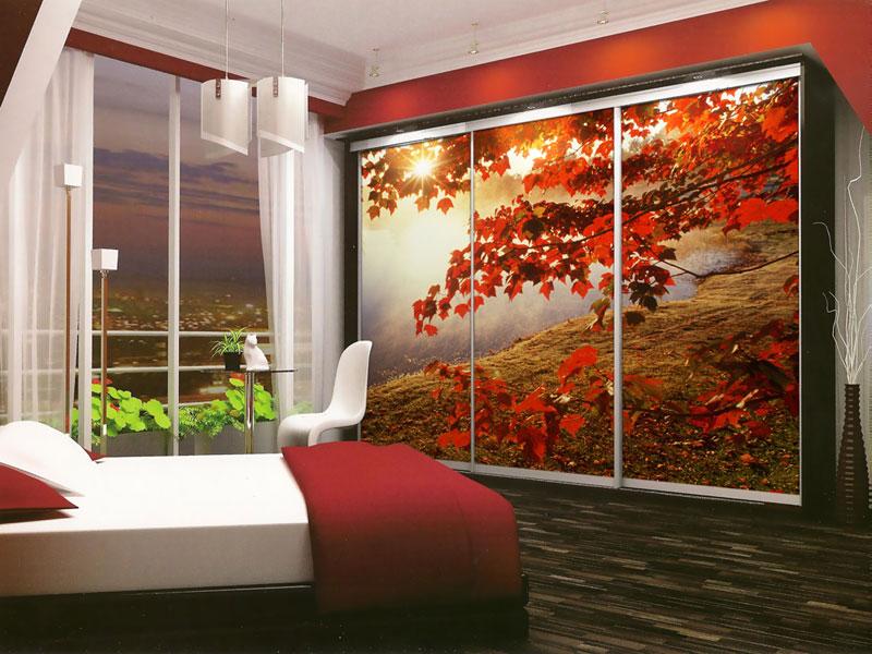 Дизайн данного помещения изначально задумывался с применением потрясающей фотопечатью для украшения шкафа