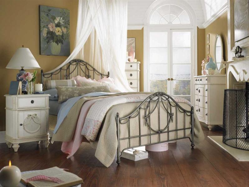 Современный прованс в оформлении спальни