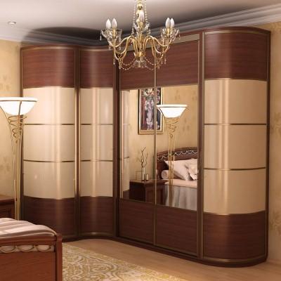Как сочетается дизайн комнаты отдыха с угловым шкафом
