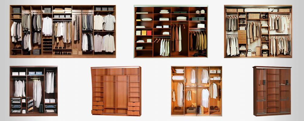 Возможные способы наполнения шкафов