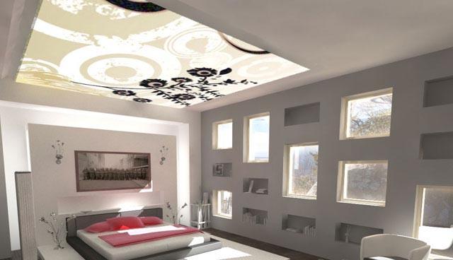 Дизайн с двумя ярусами потолков