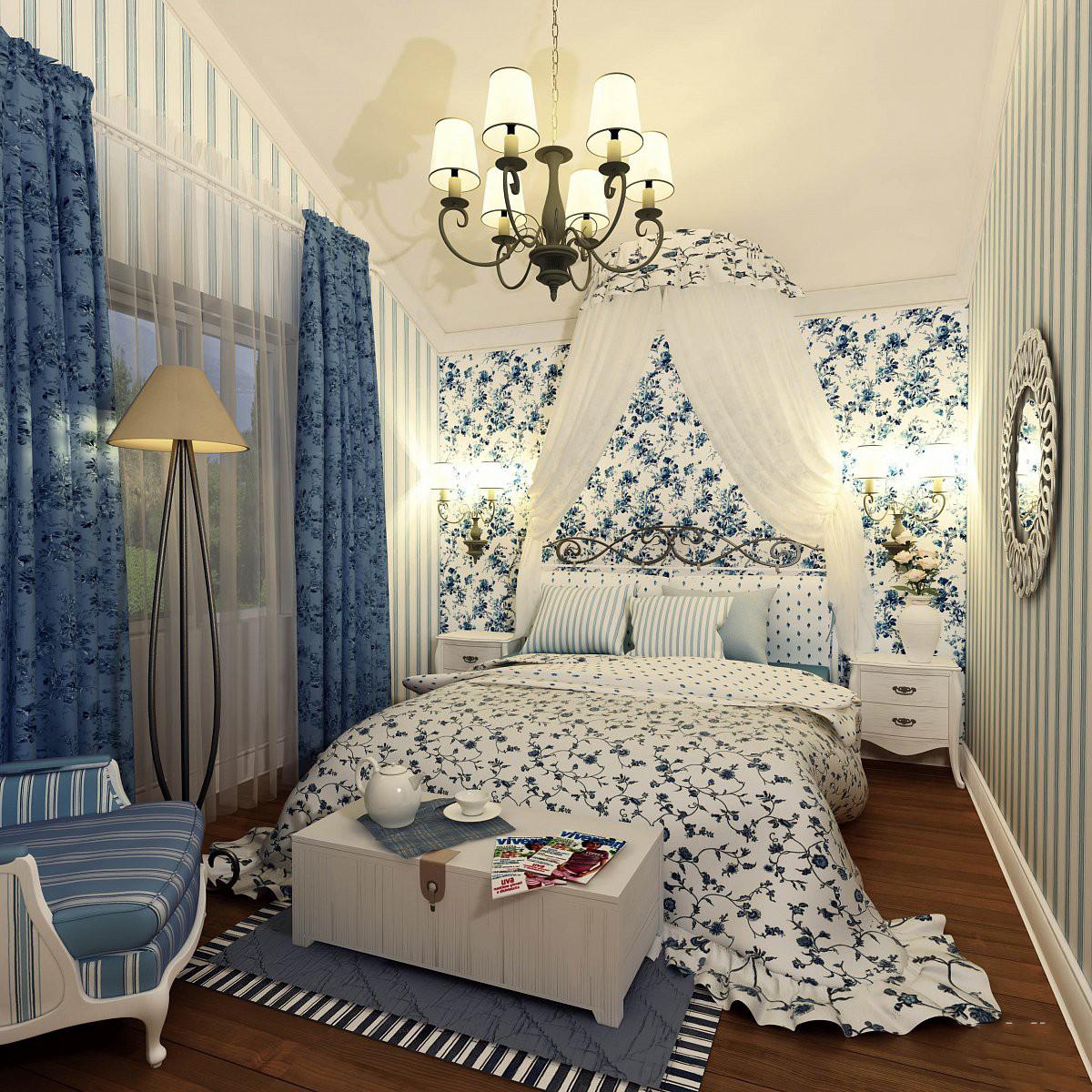 Источники света в спальне стиля прованс