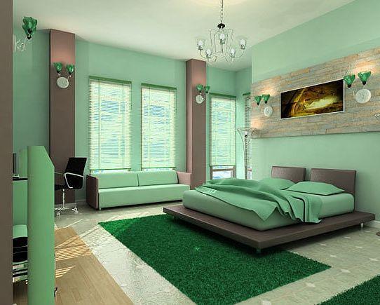 Потолки из гипсокартона в спальне одноуровневые
