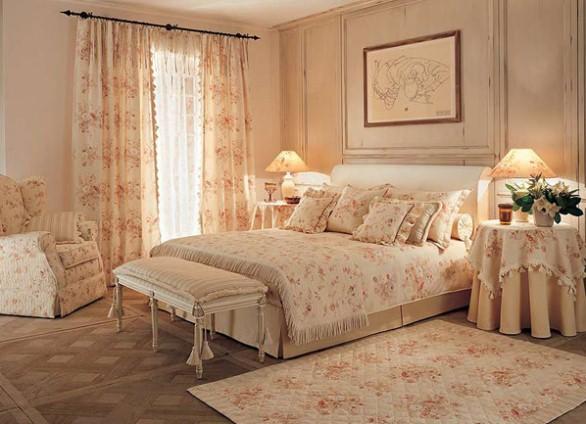 Спальня прованс в бежевых тонах